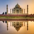 Taj Mahal au couché du soleil